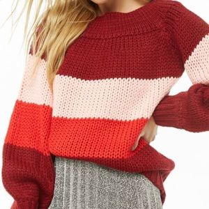 Forever 21 colorblock ribbed sweater
